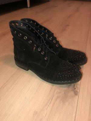 Alma en Pena Wciągane buty za kostkę czarny