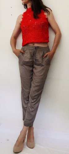 Soyaconcept 3/4 Length Trousers grey-taupe