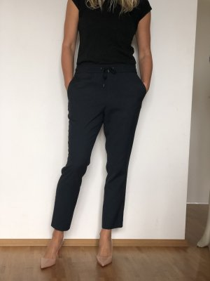 Pantalon boyfriend bleu foncé polyester