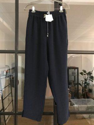 American Vintage Pantalon en jersey bleu foncé