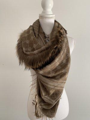 Mala Alisha Zijden sjaal grijs-bruin-lichtbruin Zijde