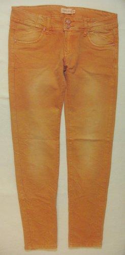 Tolle Stretch-JEANS von YOUJOY in sommerlichem Orange..Skinny fit..Größe W30, DE 38/40
