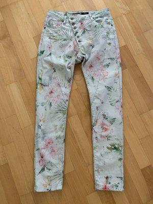 Aust Pantalone elasticizzato verde-grigio