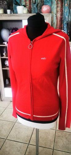 Tolle Strickjacke Esprit EDC rot weiß 38 M