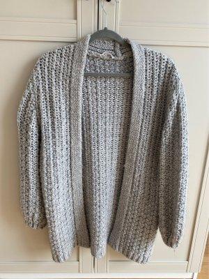 Mango casual Coarse Knitted Jacket light grey-grey