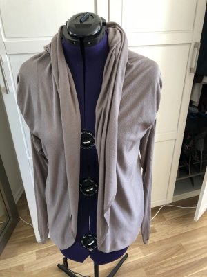 Repeat Giacca in maglia marrone-grigio