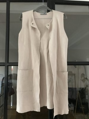 ESISTO Long Knitted Vest beige