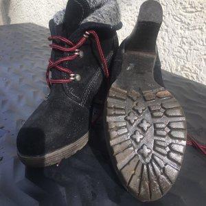 Tamaris Bottes à lacets noir daim