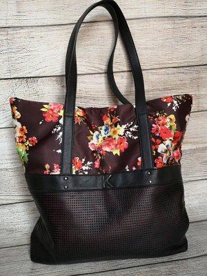 Kookai Shopper noir-rouge tissu mixte