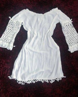 0039 Italy Bluzka tunika biały