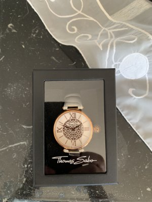 Thomas Sabo Watch With Leather Strap gold-colored-white