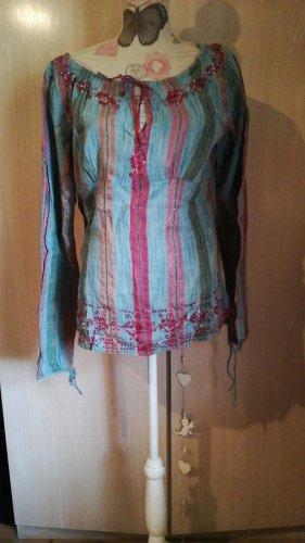 Tolle Vero Moda Tunika Bluse Glitzer Oriental XL