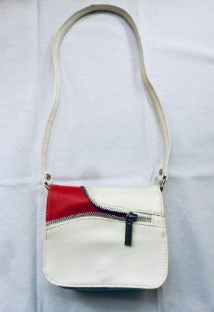 Daniel Ray Torebka mini w kolorze białej wełny-czerwony