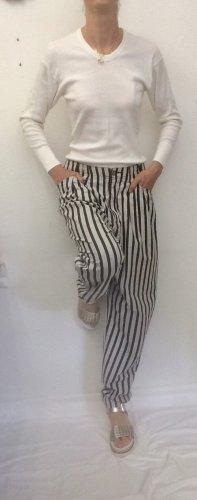 Pantalón de pinza alto gris claro-negro