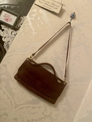 Tolle Vintage Ledertasche braun Umhängetasche