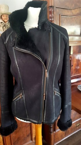 Armani Jeans Veste d'hiver noir-bleu foncé
