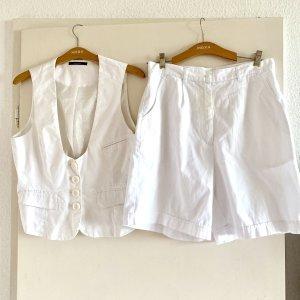 Vero Moda Gilet de costume blanc