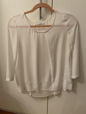 Tolle weiße Bluse mit Spitze