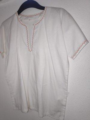 tolle weiße Vintage Bluse
