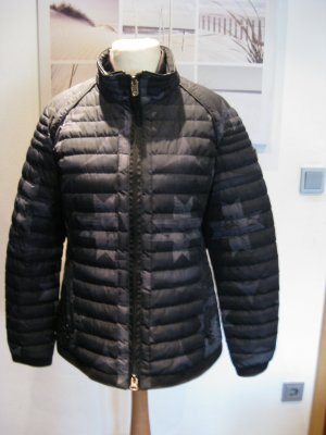 Wellensteyn Kurtka zimowa czarny-srebrny Tkanina z mieszanych włókien