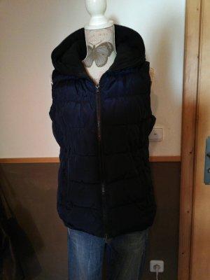 Tolle Weste blau Gr. XL mit Kapuze warm
