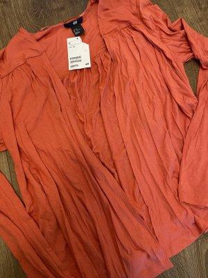 H&M Blazer in maglia salmone