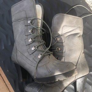 Aanrijg laarzen grijs