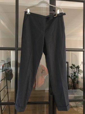 Massimo Dutti Wełniane spodnie ciemnoniebieski