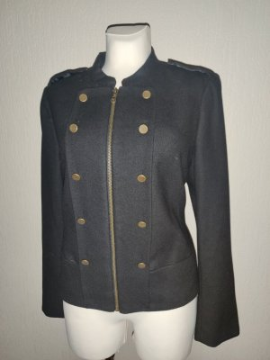 H&M Military Jacket black mixture fibre
