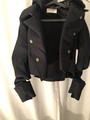 Yves Saint Laurent Chaqueta con capucha negro