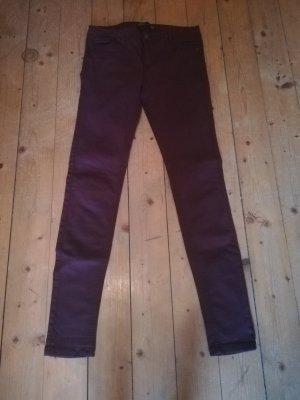 Tolle Zara Skinny Jeans weinrot Gr. 40