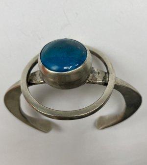Bangle silver-colored-cornflower blue