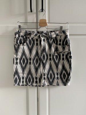Gina Tricot Denim Skirt black-natural white