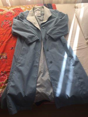 London Fog Długi płaszcz błękitny
