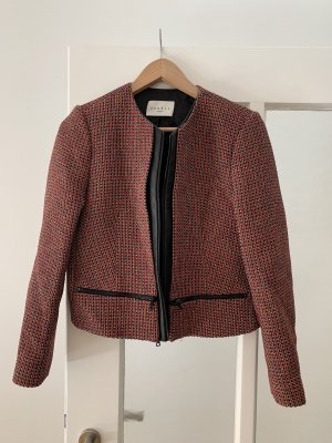 Sandro Blazer en tweed noir-rouge