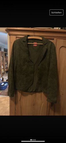 edc by Esprit Boyfriend Blazer dark brown-green grey cotton
