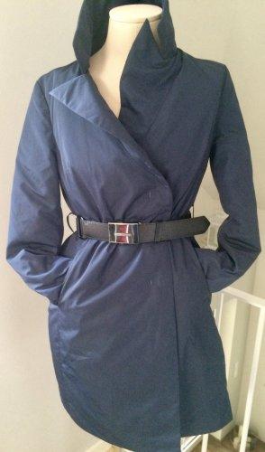 Ermanno Scervino Down Coat dark blue polyester