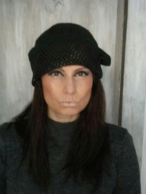 Sombrero acampanado negro tejido mezclado