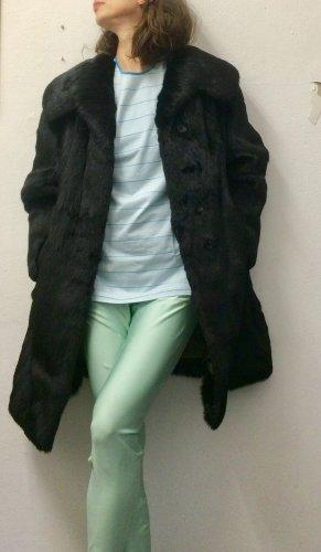 VEB Löbau Abrigo de piel negro