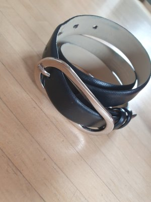 Esprit by Opening Ceremony Leather Belt silver-colored-black
