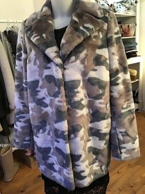 Amy Vermont Manteau d'hiver multicolore tissu mixte