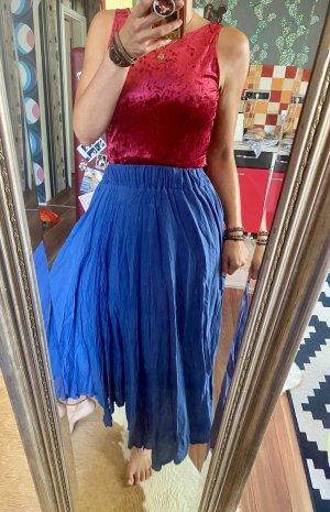 Spódnica maxi ciemnoniebieski-niebieski