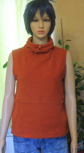 Toller Fleece-Pullunder ohne Arm, orange/ rostrot, Größe Small, DE 36/38