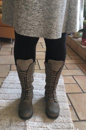 Atelier Bottes d'hiver gris cuir