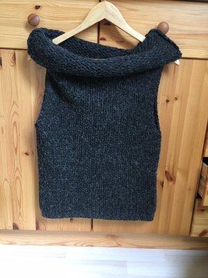 Vero Moda Poncho en tricot gris foncé-gris