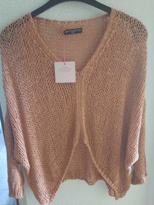 aus Italy Maglione lavorato a maglia marrone chiaro