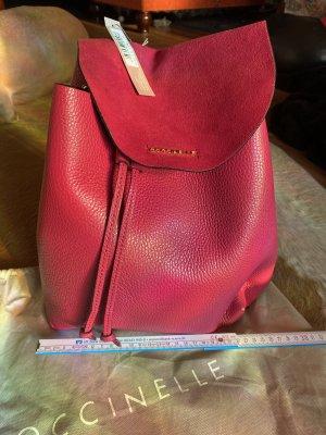 Toller großer Coccinelle Rucksack rot-pink Neu Leder