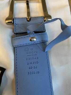 Gucci Cinturón de cuero azul celeste Cuero