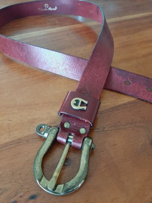 Etienne Aigner Leather Belt carmine leather