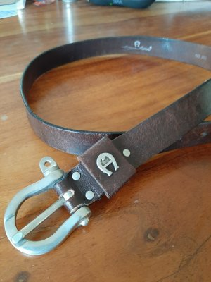 Etienne Aigner Leather Belt dark brown leather